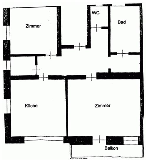 Anemone Ferienwohnung Grundriss